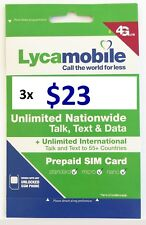 Lycamobile $23 Plan Sim Card Include 3 Month Service With 3GB Data Each Month