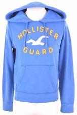 HOLLISTER Mens Hoodie Jumper Small Blue Cotton  LI20