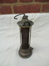 More details for  vintage brass clanny? gauze type miners lamp