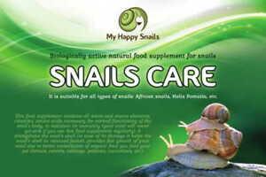 """""""Snails care"""" Biologically Active Natural Food Supplement for Pet Land Snails"""