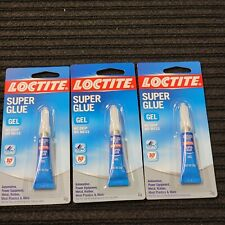 Lot Of 3 Quality Loctite Fast Acting Gel Super Glue 007 Oz Fast Free Shipping