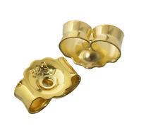 3Paar 333 Gelbgold Gegenstecker Ohrstecker Ohrstopper Loch 0,8mm Ohrmutter 4820