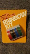 Rotex Label Tape Rainbow Kit
