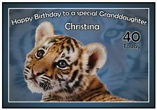 Personalised Cutest Tiger Birthday Card - Gorgeous !