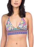 Trina Turk Women's 182233 Banded Triangle Halter Bikini Top Swimwear Size 2