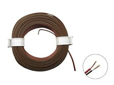 10m Ring Zwillingslitze 2x 0,08mm² rot / braun Litze zweiadrig Doppellitze