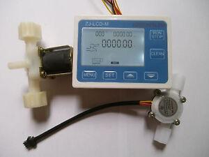 """NEW G1/4"""" Water Flow Control LCD Meter + Flow Sensor + Solenoid valve"""