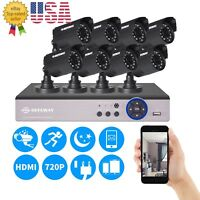 8CH 1080N CCTV Email DVR 1500TVL Outdoor 720P Security Camera System No HDD IP66