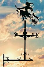 Wall mounted Weathervanes Floor standing Steel Witch &Cat gift Weathervane Gifts