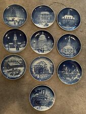 Bing and Grondahl Christmas In America Complete Set Of 10 Christmas Plates
