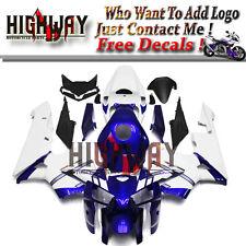 White Blue Stripes ABS Fairing Bodywork Kits For Honda CBR600 CBR600RR F5 05 06