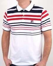 Fila Geeza Point Polo Shirt in White, Navy & Red stripes, settanta bb1 mk1 dyer