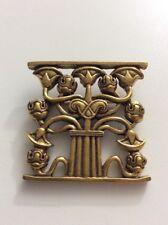 1995 Flowering Lotus Pin Metropolitan Museum of Art Gold Plated Pewter EVC