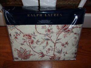 NIP Ralph Lauren Islesboro Kailie Floral Cream Multi Quilted King Coverlet $500