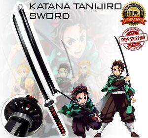 """39"""" Kimetsu no Yaiba Demon Slayer Katana Tanjiro Anime Blade Sword Cosplay Prop"""