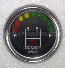 12V LED Battery Level Voltage Monitor Meter Indicator
