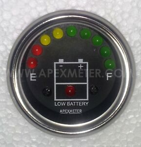 48V LED Battery Level Voltage Monitor Meter Indicator