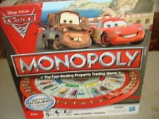 2011 MONOPOLY DISNEY CARS 2 EDITION PARKER BROTHERS BOARD GAME ~ COMPLETE!