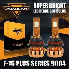 AUXBEAM 9004 HB1 LED Headlight Bulbs Hi&Lo 70W 7000LM 6000K Canbus Decoder F-16P