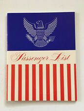 Vintage United States Lines Cabin Class Passenger List for the S.S.United States