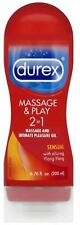Durex Massage - Play 2 in 1 Lubricant, Sensual with Ylang Ylang 6.76 oz (6 pack)