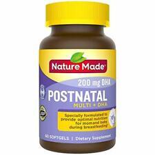 Nature Made Postnatal Multivitamin + DHA 200 mg Softgels 60 Ct