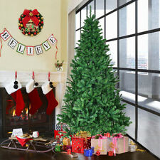 7ft Artificial Christmas Tree Traditional LOOK Green With Metal Stand 1200 Tips