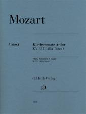 Henle Urtext Mozart Piano Sonata in A Major K331