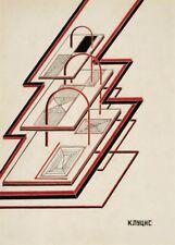 La Propagande Russe Constructivisme Dynamics Gustav Klutsis Soviet Union Poster