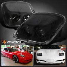 Black 1997-2004 Chevy Corvette C5 Projector Headlights Head Lamps Left & Right
