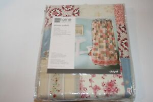 """JC Penny Home Collection """"Abigail"""" Floral Square Shower Curtain NEW OLD STOCK"""