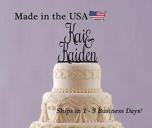 Engagement Party, Wedding Cake Topper, Name Topper, Wedding Keepsake - LT1112