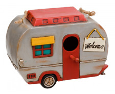 VINTAGE 1950'S CARAVAN SHAPED BIRDHOUSE CAMPING BIRD HOUSE / BOX