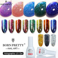 BORN PRETTY 10ml Chameleon Glitter UV Gel Polish Gold Red Soak Off Nail Art Gel