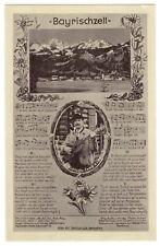 """Ak canciones tarjeta -- """"Bayrischzell"""" con compositor martin staudacher-para 1919"""