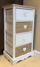 Retro Vintage Shabby Chic Cabinet Heart Furniture Storage Unit Fully Assembled
