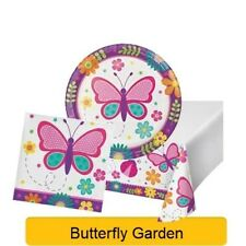 BUTTERFLY GARDEN Birthday Party Range - Tableware Balloons & Decorations {CP}