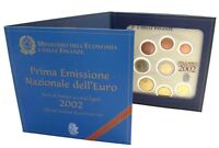 Italien Euro 2002 KMS 1 Cent bis 2 Euro Kursmünzensatz Stempelglanz im Folder