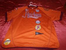 Harlem Globetrotters Fubu Wear Mens Pullover Sz 3XL #35 Orange 1/4 Zip Shirt