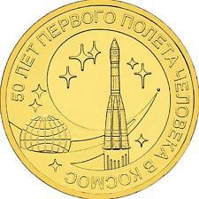 Rusia 2011. 10 Rublos Unc-Gagarin 50 Años
