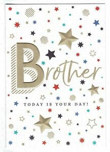 Brother Birthday Card 'Brother Today Is Your Day'
