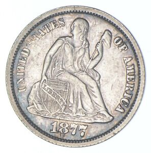1877-CC Seated Liberty Dime - Walker Coin Collection *934