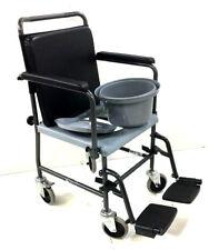 Toilettenstuhl fahrbar Nachtstuhl Rollstuhl Toilettenrollstuhl Hygieneeimer