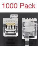 1000 Pack RJ12 DEC Modular Connector Plugs offset tab LEFT Latch DEC Equipment