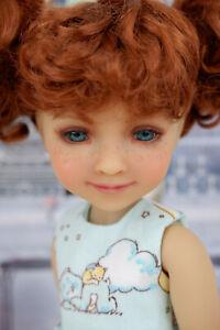 """Kristy - custom 14.5"""" Ruby Red Fashion Friends doll w/  Care Bear theme wardrobe"""