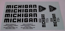 Nylint Michigan crane construction water slide decal set in black