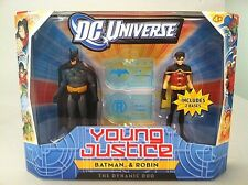 DC UNIVERSE_YOUNG JUSTICE Collection__BATMAN & ROBIN figures_2 Pack_New_Unopened