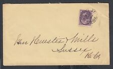 CANADA 1899 2C QV NUMERAL COVER ST JOHN TO SUSSEX NEW BRUNSWICK