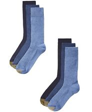NWT GOLD TOE Mens 6 pk Stanton Crew SOCKS (Fits Shoes 6-12.5)