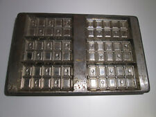 Vintage Chocolate Candy Bar Metal Mold Chocolate Bar